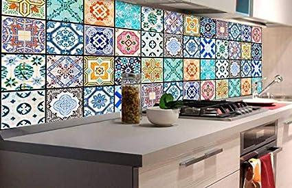 Vinilo Para Azulejos De Cocina Autoadhesiva 180 X 60 Cm Lamina