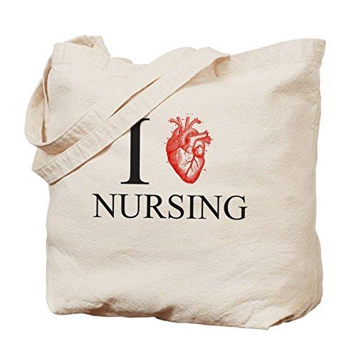 CafePress–I corazón Enfermería–Gamuza de bolsa de lona bolsa, bolsa de la compra