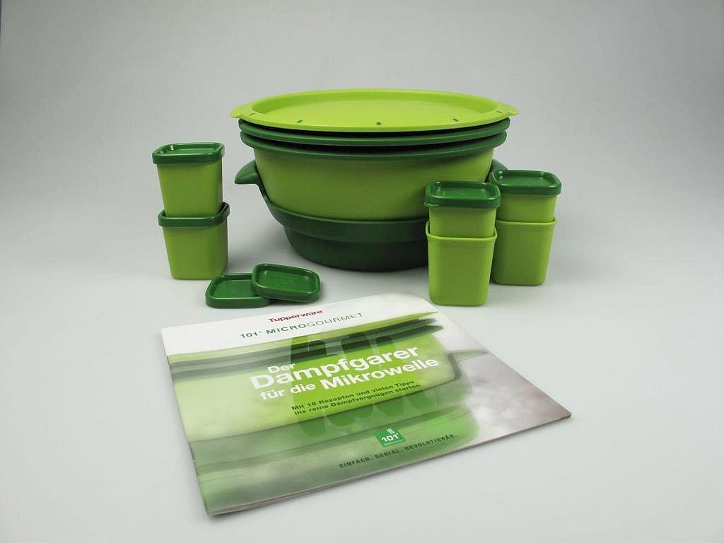 Tupperware Microondas Micro Gourmet Verde + Moldes (6) + Recetas ...