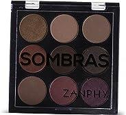 Paleta De Sombras 9 Cores 069P, Zanphy, Multicor