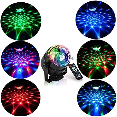 IhDFR ディスコライト、サウンドはUSBケーブル&リモートコントロールでクリスマスパブウェディングクラブのショーのためにDJステージライトキッズパーティーボールライトを活性化7色