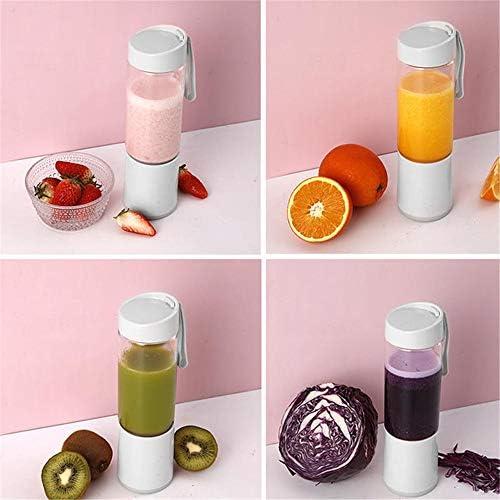 Tbaobei-Baby Mélangeur Portable 250ml 60W USB Juicer avec Bonnets Double Cuisine électrique portatif Fruit Juicer Mixer Fruit Blender (Color : White, Size : One Size)