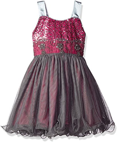Bonnie Jean Little Girls' Sequin Bodice to Tulle Party Dress, Magenta, 5