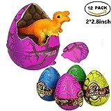 ARDUX 12Pcs/box Large-sized Novelty Magic Crack Growing Hatching Dinosaur Eggs for Kids Child