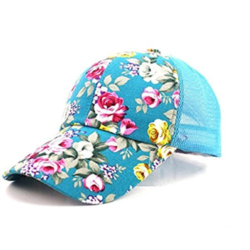 Visor Ball Cap - Women's Quick Drying Mesh Baseball Cap Summer Cool Breathable Floral Sun Hats Outdoor Sports Anti UV Sun Cap Adjustable Snapback Tennis Golf Fishing Running Cycling Sunhat Ball Cap Visor