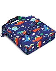 BTSKY Portable Baby Cushion High Chair Seat Pad with Adjustable Cover Dining Chair Harness Cushion for Kids Baby Infant Toddler(Dinosaur Blue)
