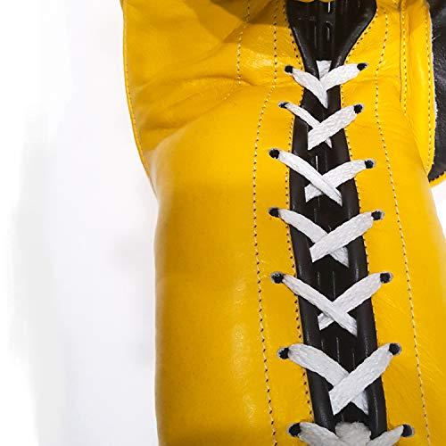 Casanova Professional LACE-UP Boxing Gloves (Yellow, 14 oz)