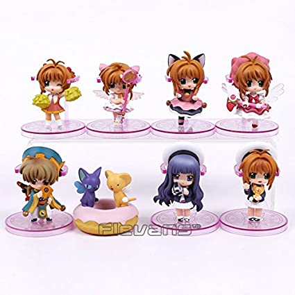 Costume Props Anime Card Captor Cardcaptor Sakura Kinomotosakura Action Figure Toy Doll For Birthday Christmas Gifts