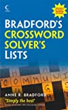 Crossword Solver's Lists, Anne R. Bradford, 0007280866