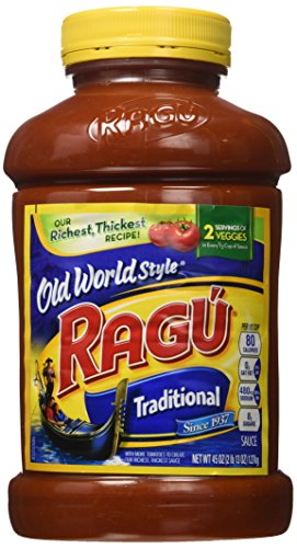 Ragu America's Favorite Pasta Sauce Traditional Old World Style Sause 2 Pound 13 Ounce Value Jars (Pack of 3)