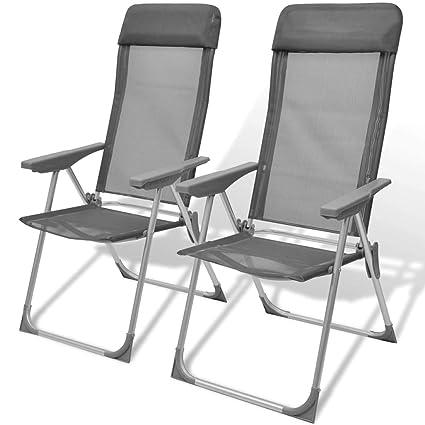Amazon.com : Hellowland Set of 2 Aluminium Folding Garden Camping ...