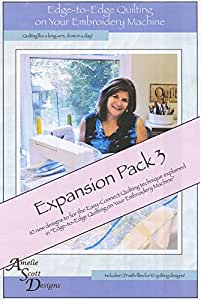 Edge to Edge Quilting On Your Embroidery Machine Expansion Pack 3