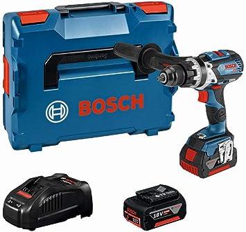 Bosch Professional 18V System Taladro percutor a batería GSB 18V-85 C (2 baterías x 5.0 Ah, 18 ...