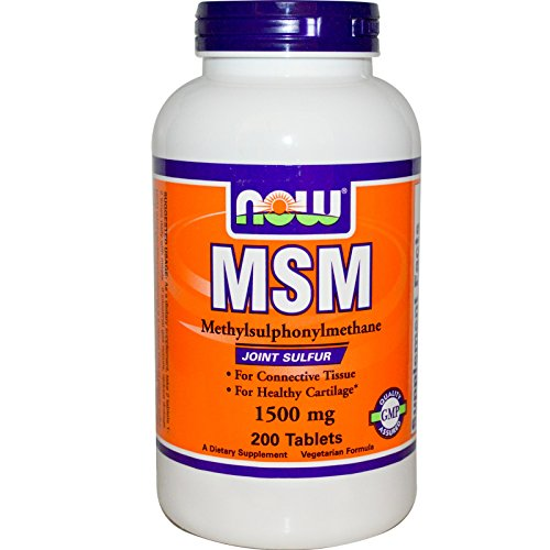 Now Foods MSM 1500 Vegetarian - 200 Tabs 2 Pack ()