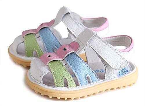 Scothen Unsex Playa de verano cerrado sandalias zapatos para caminar libre ultraligero calzado transpirable plana unisex niños muchachas ocio zapatos de trekking para caminar/sandalias de la mitad White