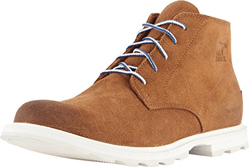 Sorel Madson Chukka Waterproof, Suede, Boot Men's Camel Brown/Sea Salt (9.5) ()