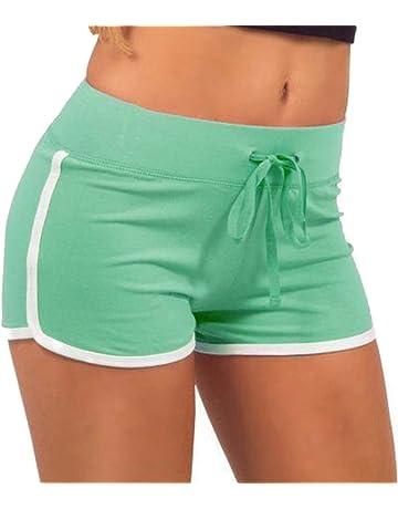 EXIU Women Casual Loose Cotton Elastic Waist Yoga Sports Running Short Pants acbad0275a