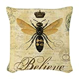 CafePress - Modern Vintage French Queen Bee - Woven Throw Pillow, Decorative Accent Pillow
