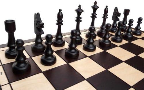 ChessEbook Jeu d/échecs en bois CLUB 48 cm