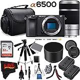 Sony Alpha a6500 Mirrorless Digital Camera (Body Only) International Version (No Warranty) + 55-210mm f/4.5-6.3 Lens Bundle