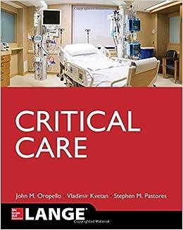 Lange Critical Care by John M. Oropello (2016-12-23)