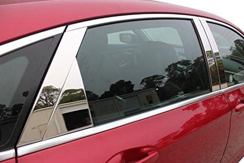 GTG 2005-2014 Maserati Quattroporte 4PC Chrome Stainless Steel Pillars Posts