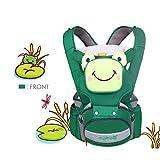 SONARIN 4 en 1 de dibujos animados multifunción Hipseat Baby Carrier,Portador de bebé,Ergonómico,Respirable,acogedor y calmante para bebés,100% GARANTIA y ENTREGA GRATUITA,Ideal Regalo(Verde)