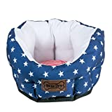 Bone Dry DII 4th of July Stars & Stripes Pet Bed, 16x16x9 Small Circle Bed for Dogs Or Cats