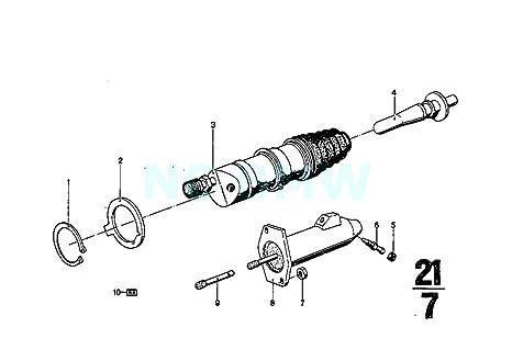 Original de BMW E23 E28 E30 salida Kit de reparación de cilindro esclavo embrague OEM 21521113880