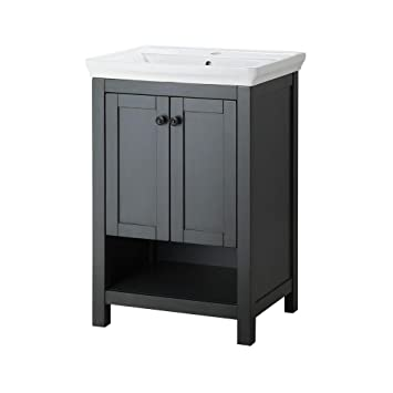 Genial Foremost HAGOS2417 Hanley 23.63 Inch Vanity With Vitreous China Sink And  Porcelain Vanity Top,