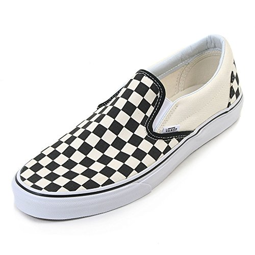 Vans Unisex Classic Slip-On (Checkerboard) Blk&whtchckerboard/Wht Skate Shoe 7 Men US / 8.5 Women US