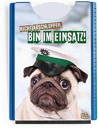 Fun Spaß Motiv Parkscheibe Mit Eiskratzer Und Gummilippe Witziger Mops Nicht Abschleppen Bin Im Einsatz Auto