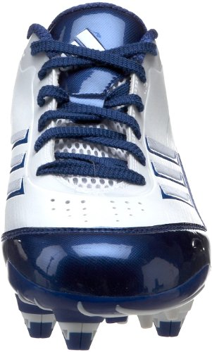 adidas Herren Scorch X Low D Fußballschuh Weiß / Collegiate Royal / Metallic Silber