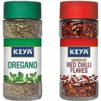 KEYA Oregano -9 g and Red Chilli Flakes -40 g Combo