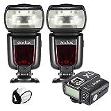 Godox TT685S Camera Speedlite TTL Master Slave GN60 2.4G Wireless Transmission HSS 1/8000S with Godox X1T-S Transmitter for Sony A77II A7RII A7R A58 A99 ILCE6000L ILDC Camera