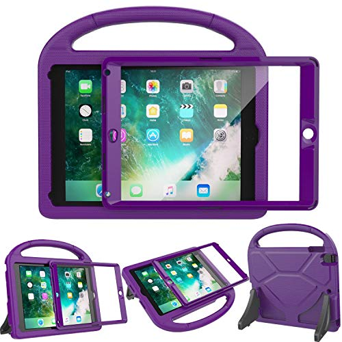 LEDNICEKER Kids Case for New iPad 9.7 2018/2017 - Built-in Screen Protector Light Weight Shock Proof Handle Friendly Convertible Stand Kids Case for New iPad 9.7 2017/2018 (ipad 5&6) - Purple
