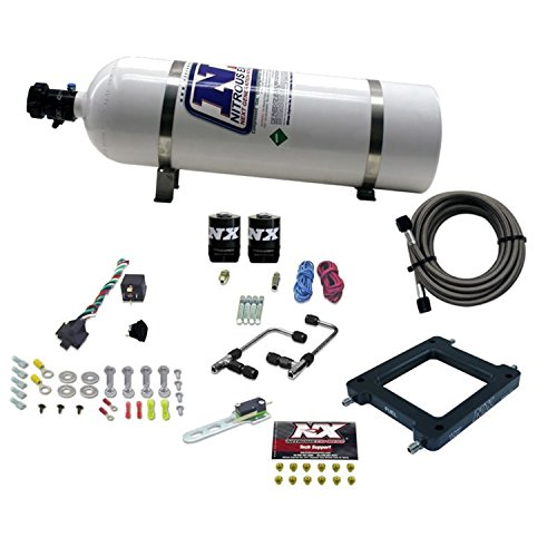 - Nitrous Express 60070-15 Dominator 50-300 HP Gemini Twin Stage 6 Plate System with 15 lbs. Bottle