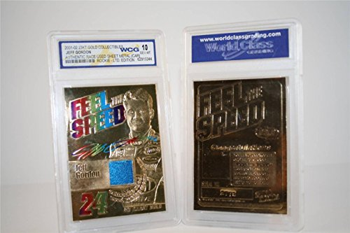 JEFF GORDON RACE USED SHEET-METAL CAR SIGNATURED GEM-MT 10 23KT GOLD CARD! 3X DAYTONA 500 CHAMPION!
