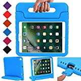 ipad cover for kids - BMOUO New iPad 9.7 Inch 2017 Case - ShockProof Case Light Weight Kids Case Cover with Handle Stand Case for Apple iPad 9.7 Inch 2017 New Model - Blue