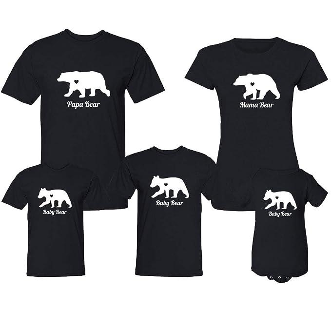 08d2d96f Amazon.com: Mama & Papa & Baby Bear Tribe Family Tshirts for Mom ...