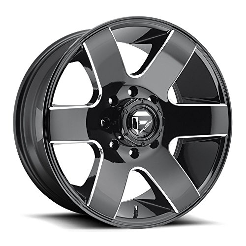 - Fuel Tank 20x10 Black Milled Wheel / Rim 5x5 with a -18mm Offset and a 78.1 Hub Bore. Partnumber D60220007347