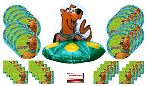 Scooby Doo Happy Birthday Party Supplies Bundle Pack for 16 (Large Balloon Plus Party Planning Checklist by Mikes Super -