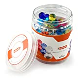 56 Push Pin Magnets - Perfect for the Fridge, Magnetic Whiteboard, Calendar, Map and More. 2 SIZES and 7 Bright Colors for More Uses and Versatility - Perfect for Home, Office or School