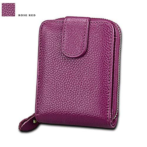 Fermeture Porte À Classique Éclair Madame Yuflangel Violet couleur Rouge monnaie Portefeuille Rose wTUCWt