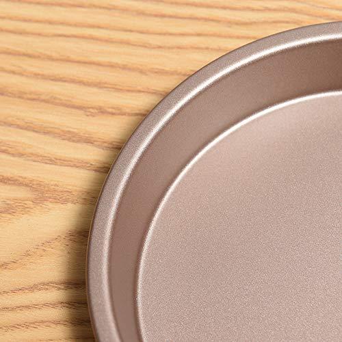 Vi.yo 1Pcs Molde de Horno Molde para Pastel Redondo de Acero con Doble Recubrimiento Antiadherente 15cm*3cm