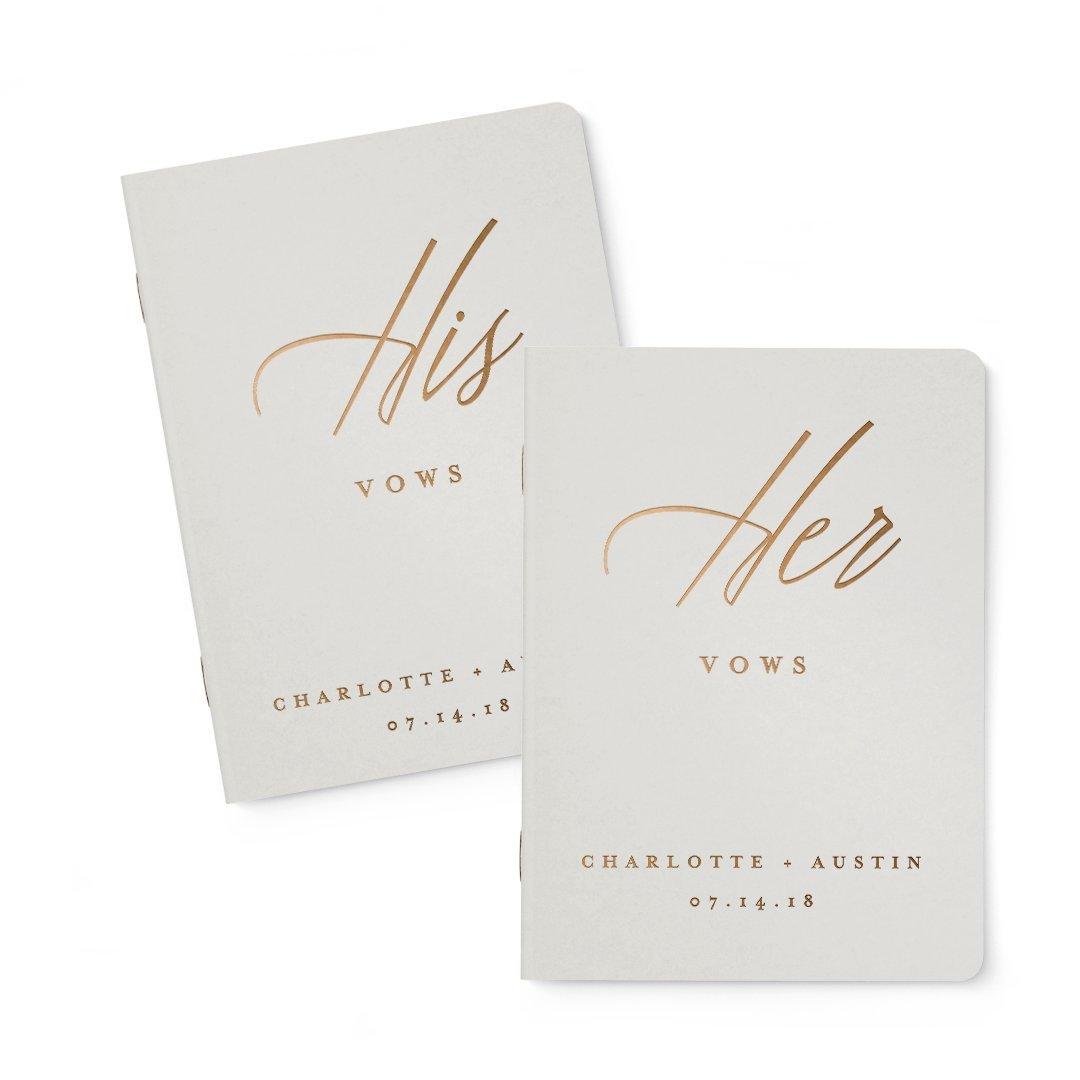 Wedding Vow Book, Gold Vow Book, Custom Wedding Vows, Custom Vow Book, Set of 2 Books
