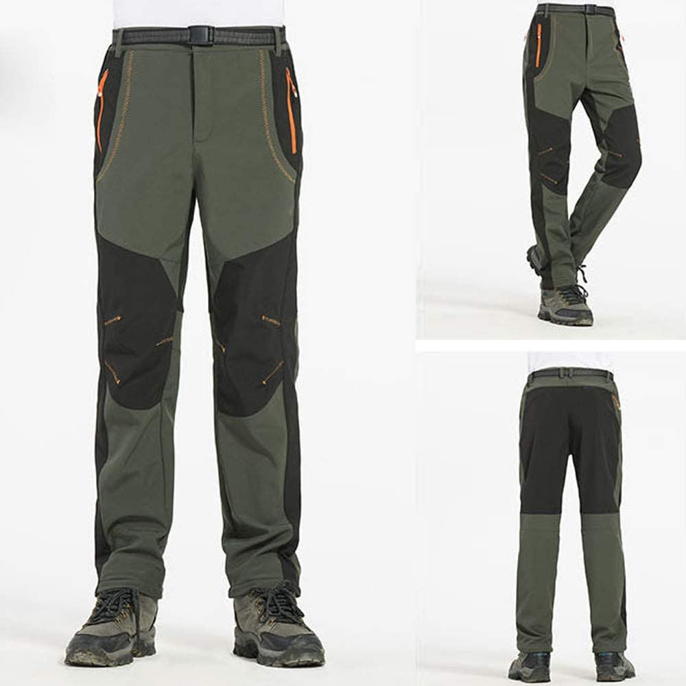 Cargo/&Chinos Men Couple Waterproof Windproof Outdoor Hiking Warm Winter Thick Pants Trousers