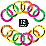 Liberty Imports [12 Pack] 10'' Outdoor Flying Rings, Plastic Disc Toss Game Toy for Kids and Adults (4 Colors)