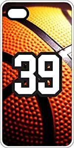 Basketball Sports Fan Player Number 37 White Plastic Decorative iphone 4s Case