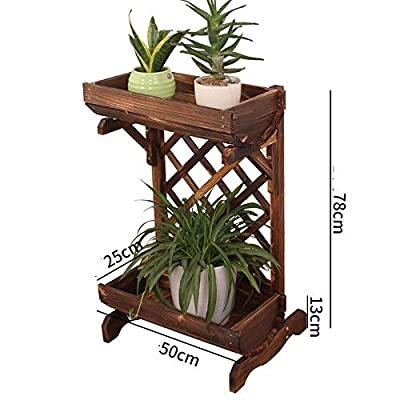 Ceramic vases Wrought Iron Multi-Functional Partition Flower Stand, Indoor Living Room Decoration Balcony Multi-Layer Trapezoidal Flower Shelf, Outdoor Hanging,vase, Patio,Wedding (Color : B): Home & Kitchen